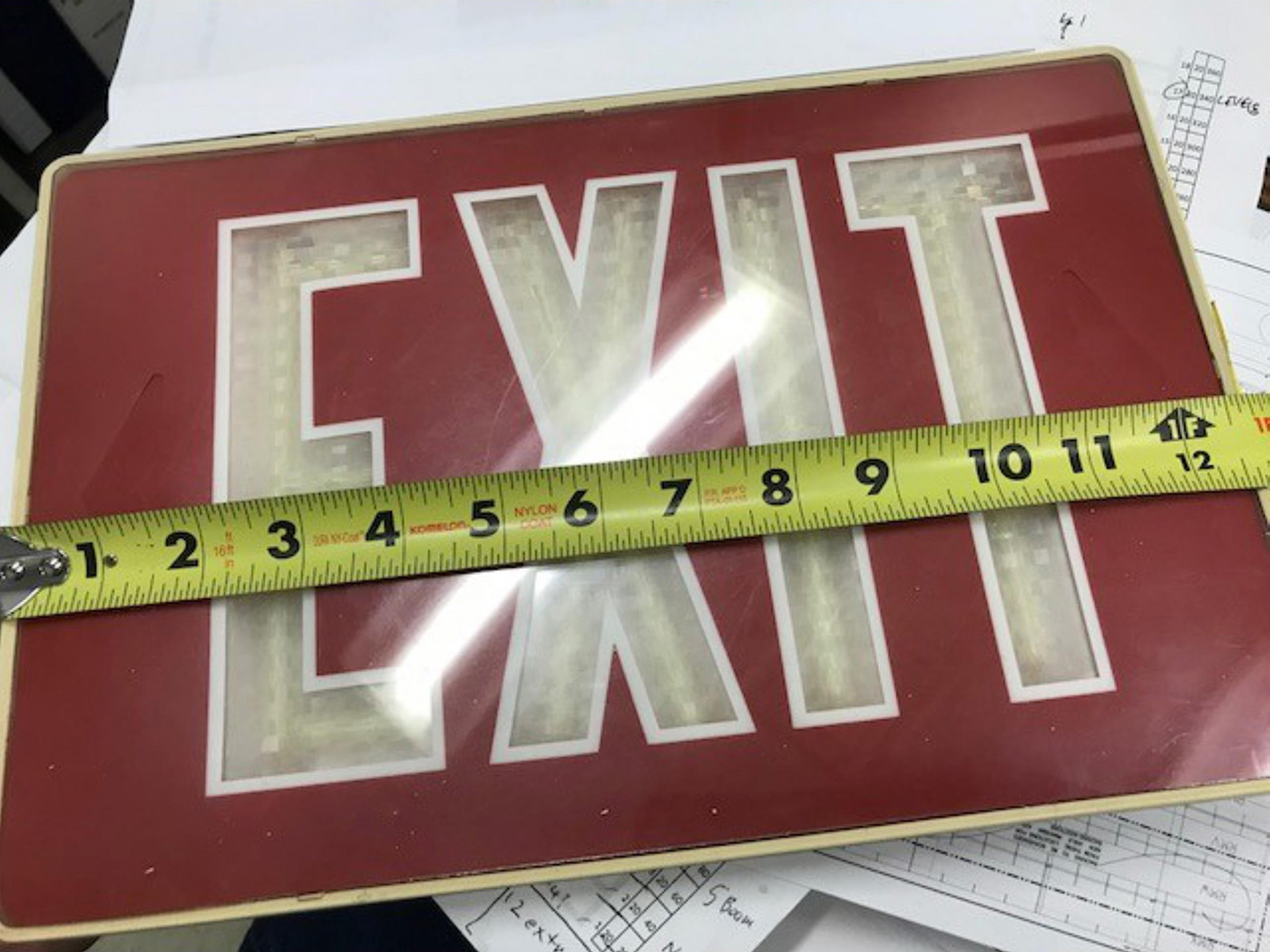 Exit Sign Disposal